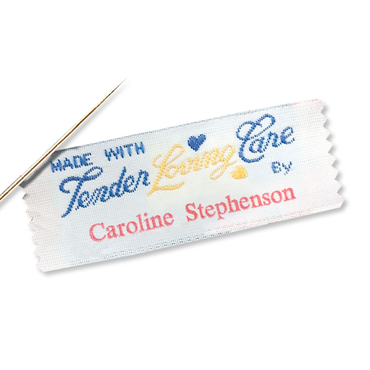Made With Tender Loving Care By Personalized Sewing Label