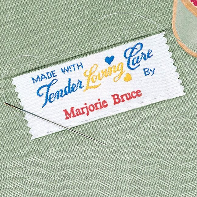 Tender Loving Care Personalized Sewing Label