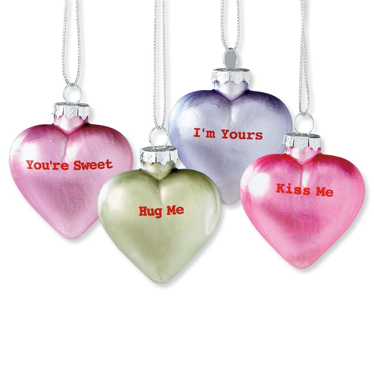 Conversation Heart Ornaments
