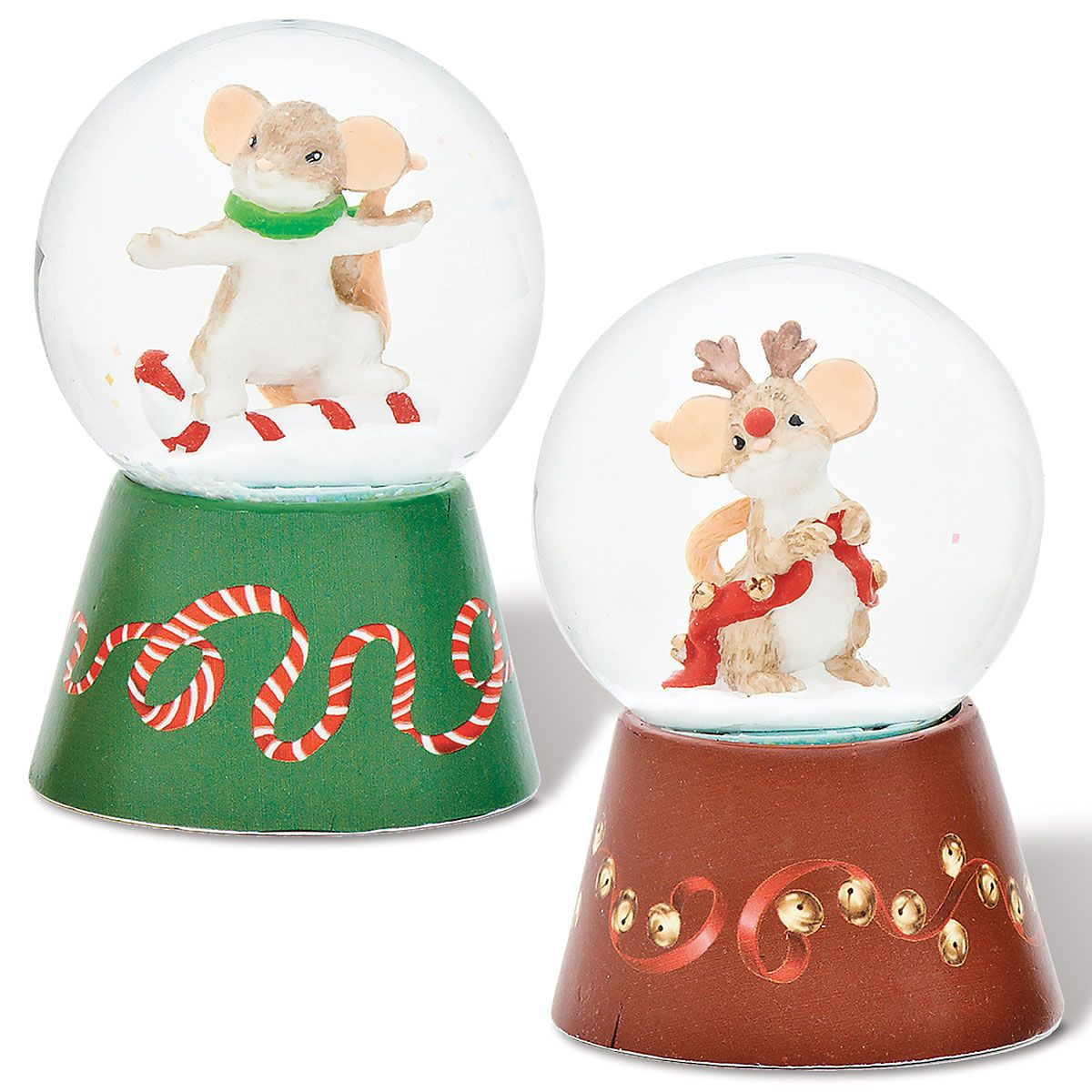 Red & Green Mini Dome Figurines by Charming Tails®