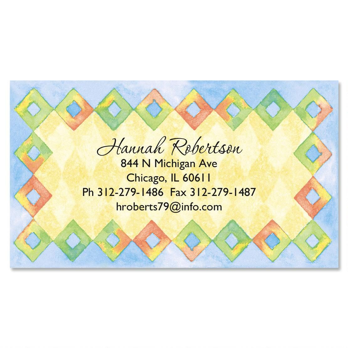 Harlequin Diamond Border Business Cards