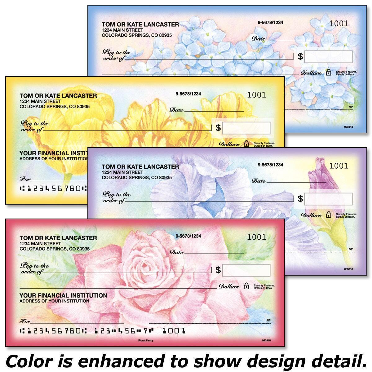 Floral Fancy Duplicate Checks