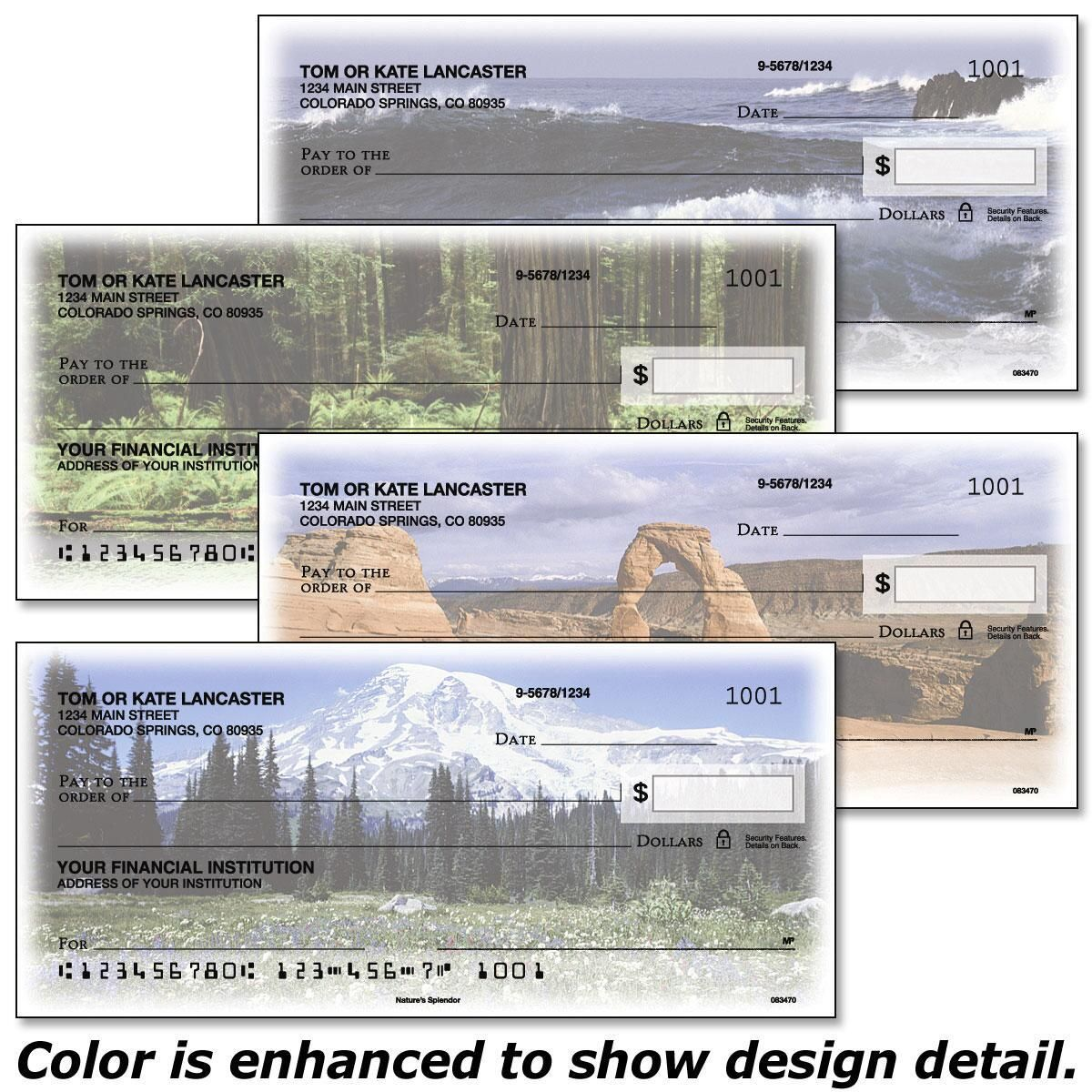 Nature's Splendor Personal Checks