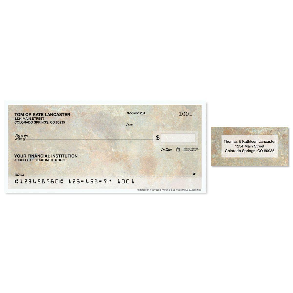 Tuscan Single Checks with Matching Address Labels