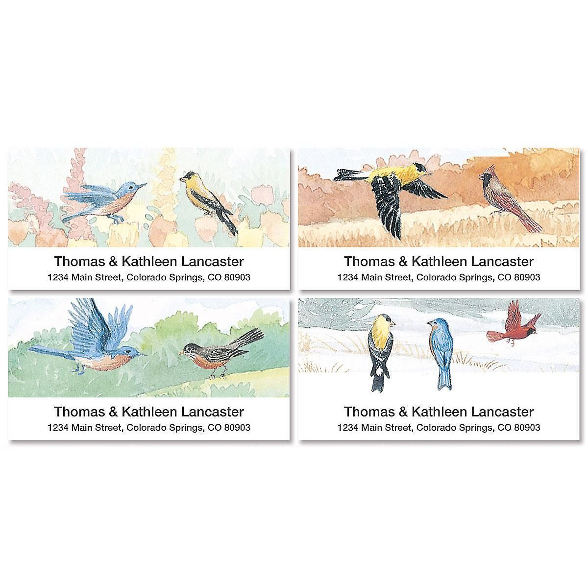 Wildbirds Deluxe Return Address Labels  (4 Designs)