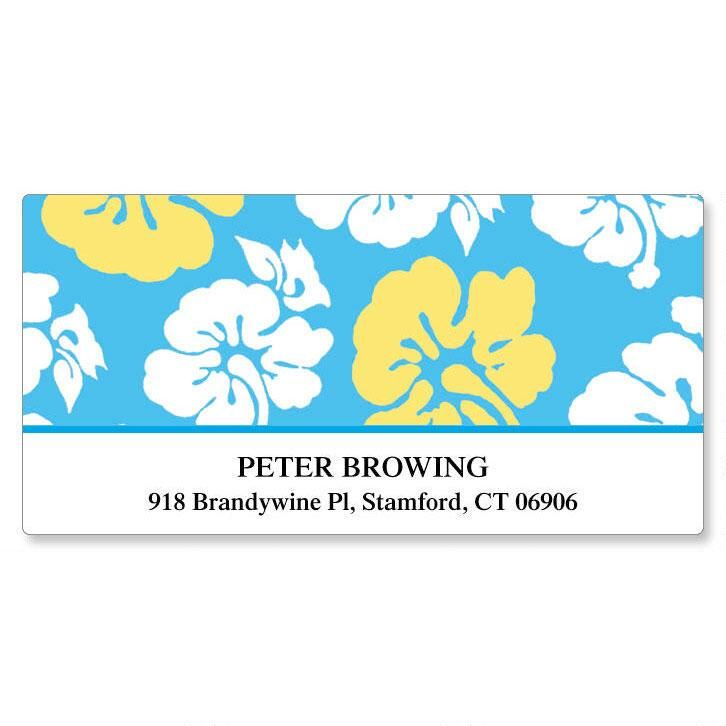 Hibiscus Deluxe Address Labels