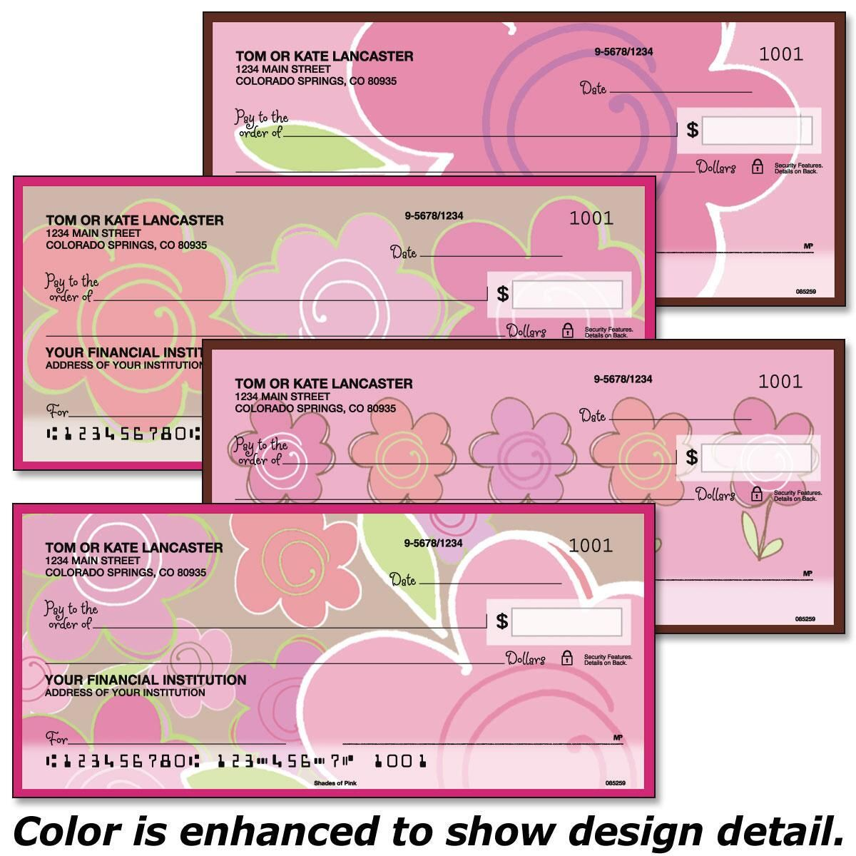 Shades of Pink Personal Checks
