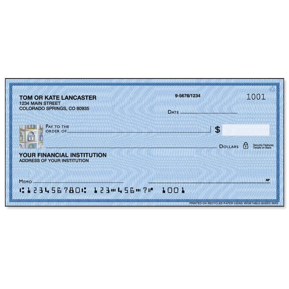 Securiguard Security Blue Hologram Premium Single Checks