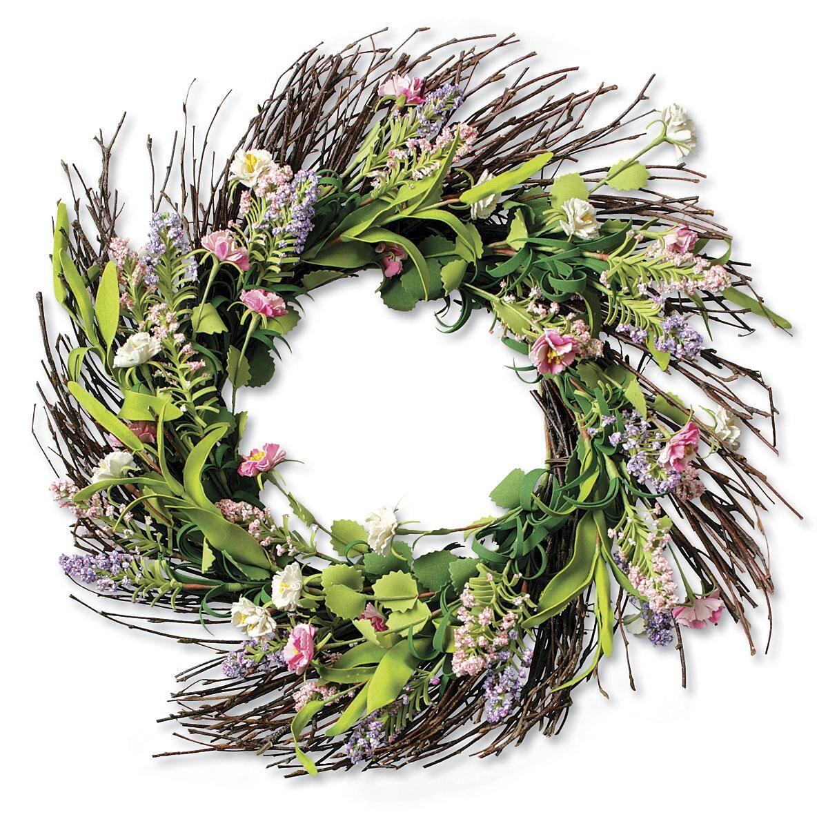 Summer-Mix Floral Wreath