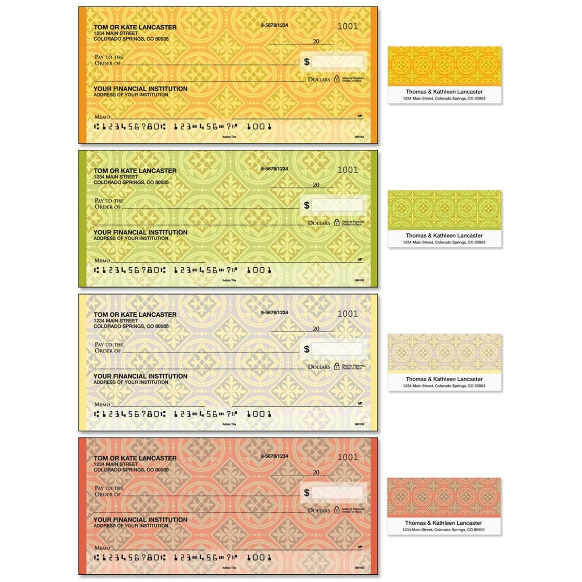 Italian Tile Duplicate Checks with Matching Address Labels