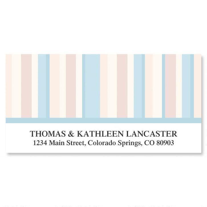 Coastal Stripes Deluxe Address Labels