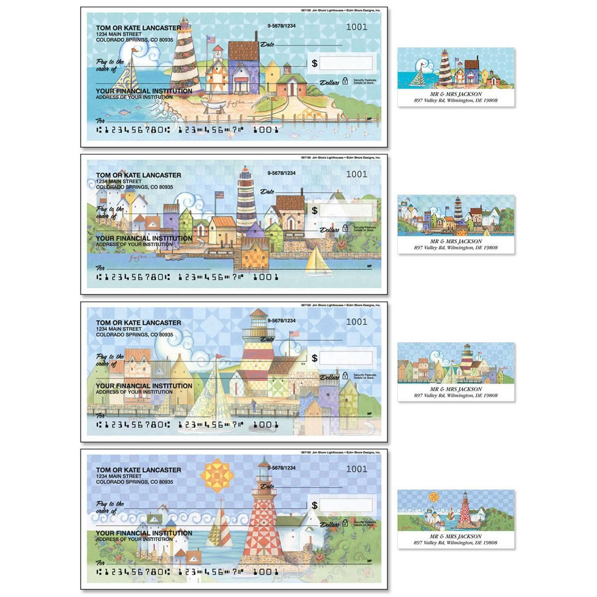 Lighthouses Single Checks with Matching Address Labels