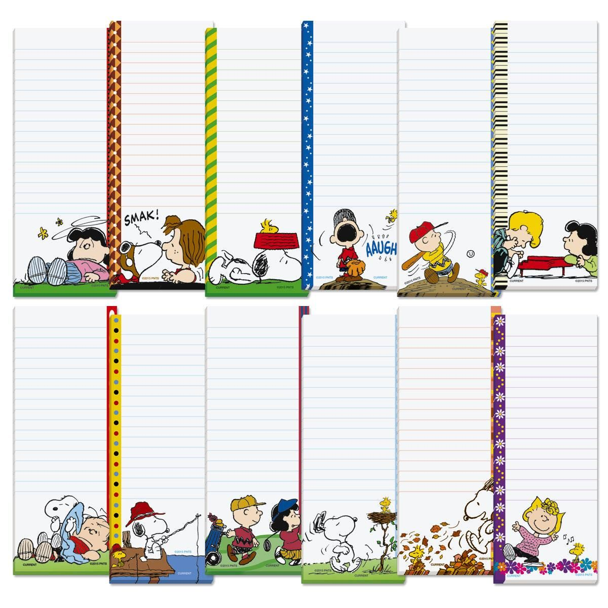 PEANUTS® Magnetic Shopping List Pads