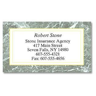 Green Marble Business Cards