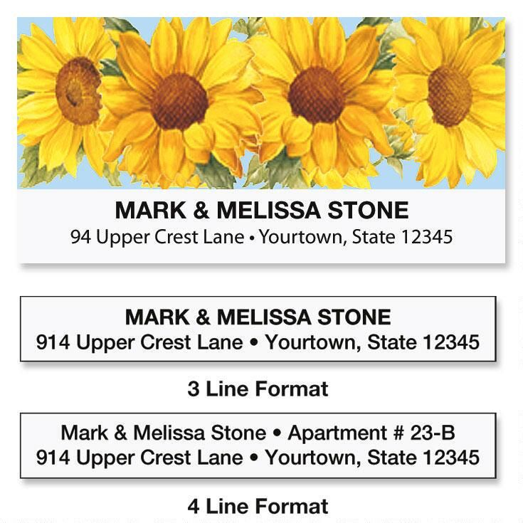 Sunflower Deluxe Address Labels