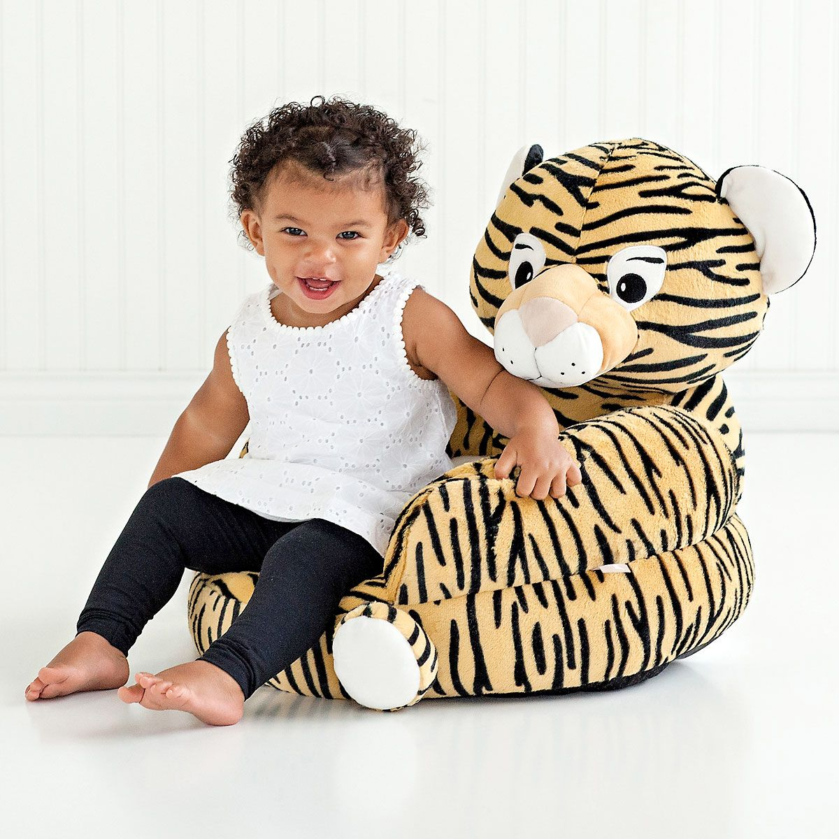 Plush Tiger Children's Character Chair