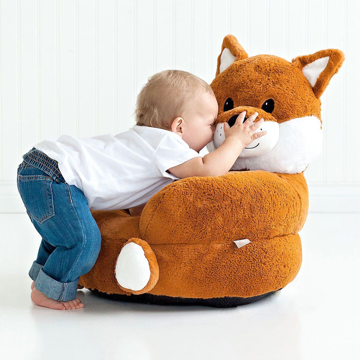 Plush Fox Children's Character Chair