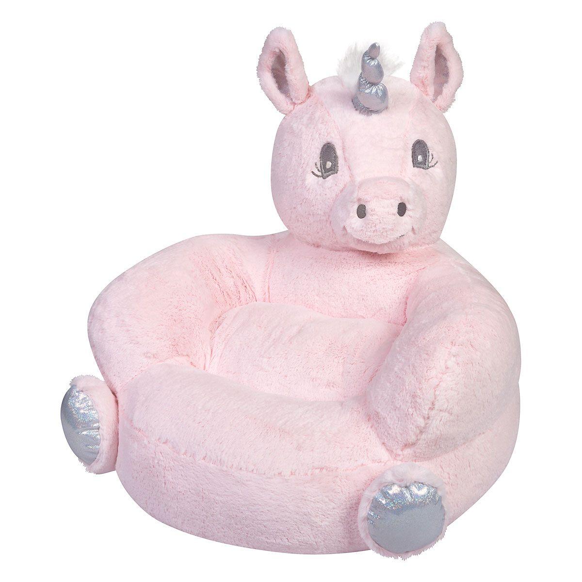 Plush Pink Unicorn Children's Character Chair
