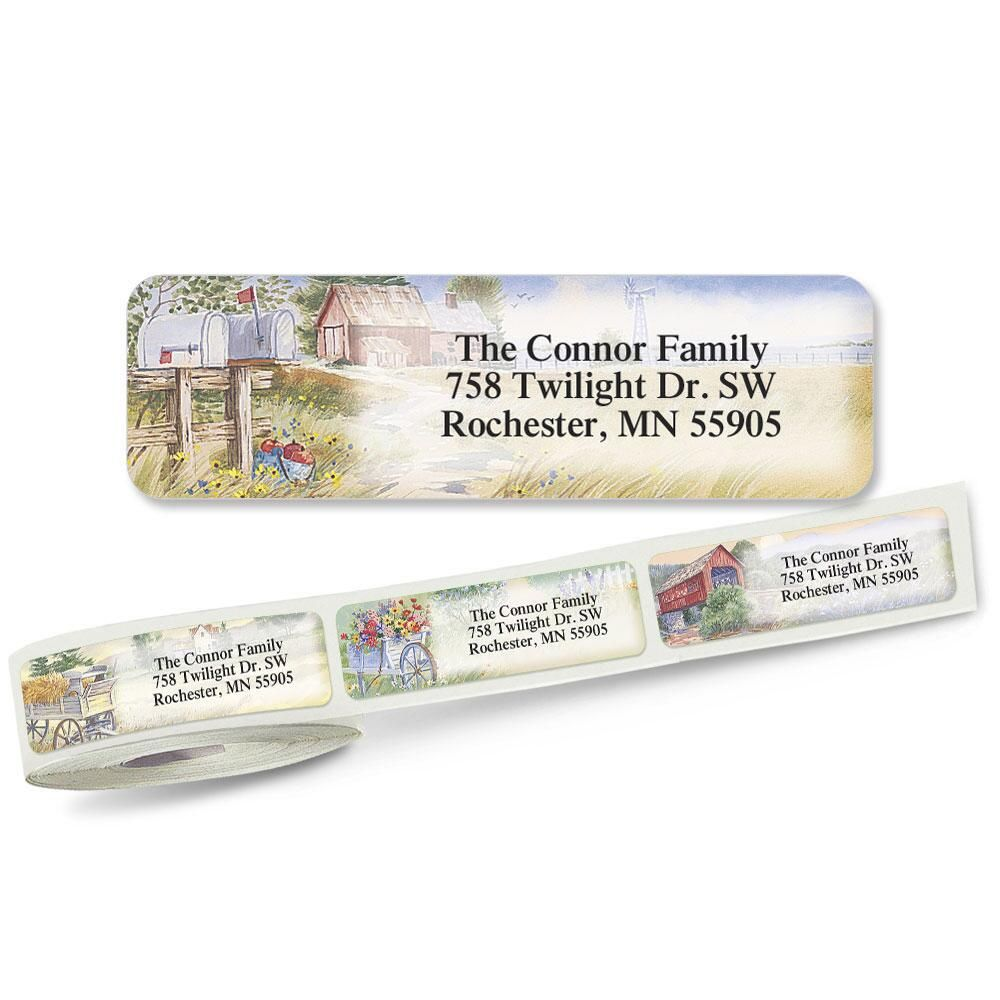 American Countryside  Rolled Address Labels  (6 Designs)
