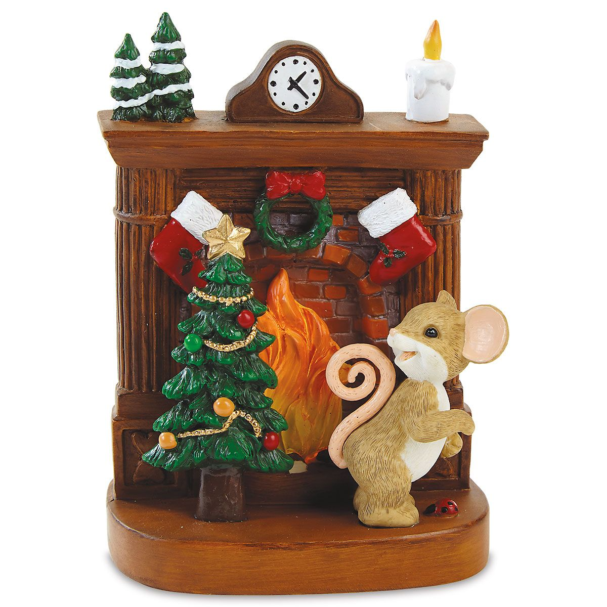 Mouse Lighted Fireplace by Charming Tails®