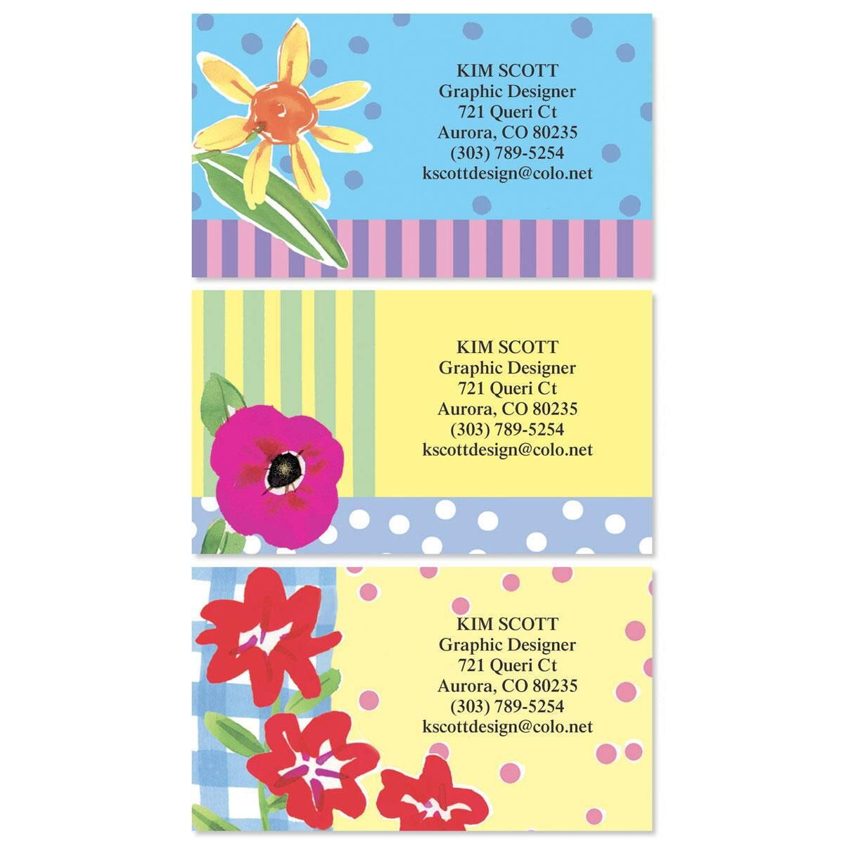 Painted Petals Business Cards  (3 Designs)