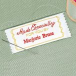Made Especially Personalized Sewing Label