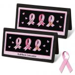 Pink Ribbon Personal Checkbook Covers