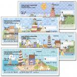 Lighthouses by Jim Shore Premium Personal Checks