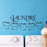 Laundry Line Vinyl Wall Decor