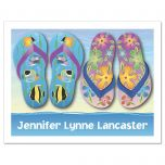 Graphic Flip-Flops Personalized Note Cards