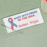 Made With Pride In The USA Personalized Sewing Label