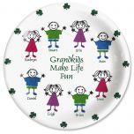 Irish Grandkids Personalized Plate