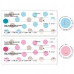 Pastel Dots Personal Single Checks with Matching Address Labels