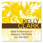 Golden Hue  Square Business Cards