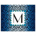 Exotic Personalized Initial Note Cards