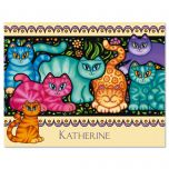 Sew Kitty Personalized Note Cards
