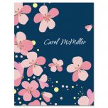 Pink Blossom Personalized Note Cards