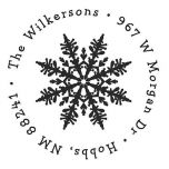 Snowflake  Address Stamp