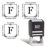 Executive Square Self-Inking Address Stamp