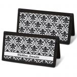 Elegant in Black Checkbook Cover