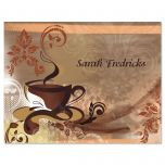 Coffee Time Personalized Note Cards