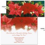 Poinsettia Trio Slimline Holiday Cards