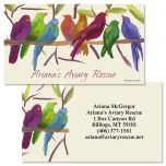 Flocked Together Double-Sided Business Cards