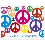Peace Signs Personalized  Note Cards