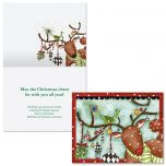 Reindeer Dress-Up Note Card Size Christmas Cards