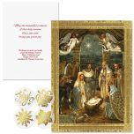 Golden Nativity Foil Christmas Cards