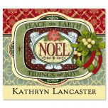 Holiday Noel Ephemera  Personalized  Goodie Labels  (1 Design)