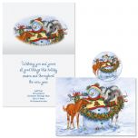 Frosty, Foal, and Felicity Christmas Cards