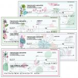 Sketched Flowers Personal Checks