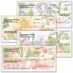Watercolor Garden Personal Checks